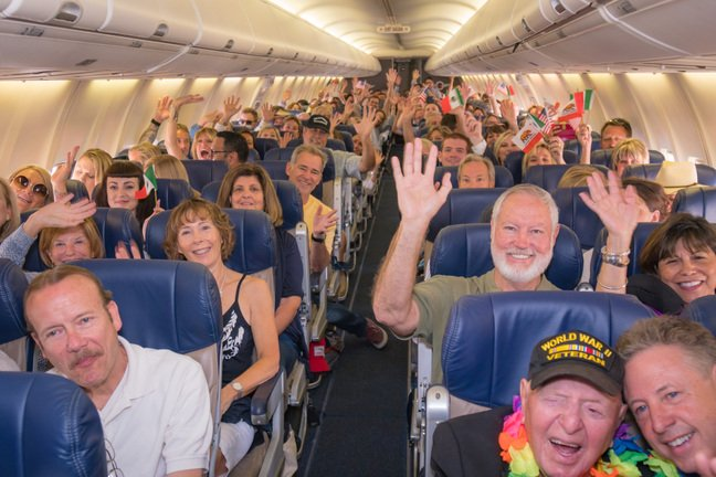 Happy Customers on Southwest Flight, International Service from San Diego