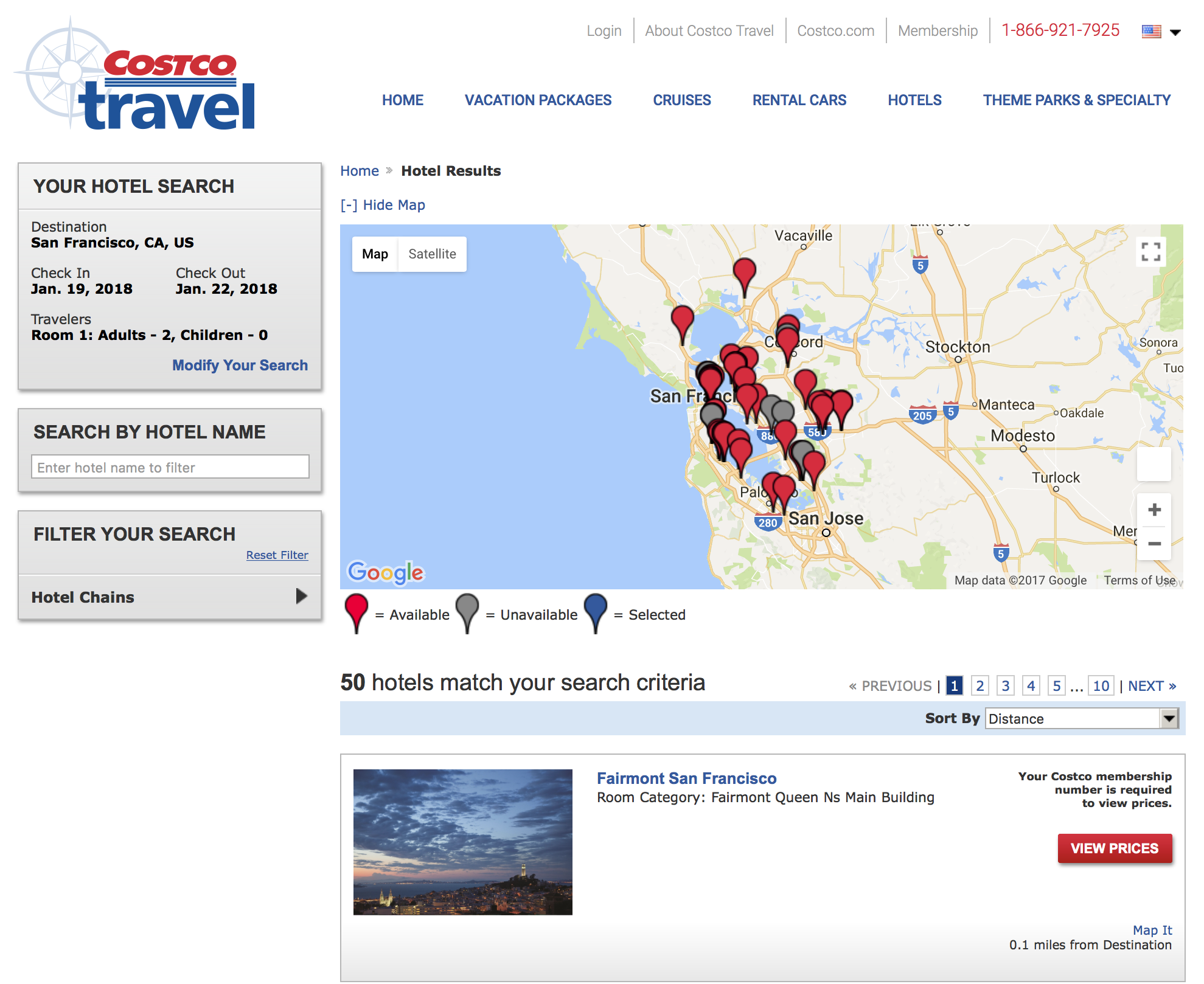 Costco Travel Hotel Booking