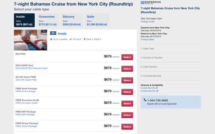Orbitz Cruise Extras