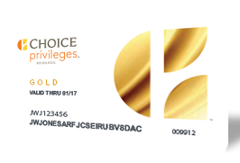 Choice Privileges Gold member card