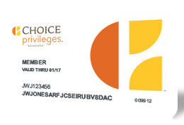 Choice Privileges Standard member card