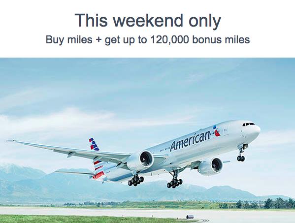 AA Buy Miles Bonus