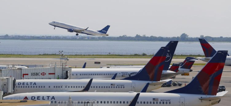 Delta Airlines Planes Row