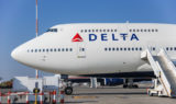 Delta airplane boeing 747