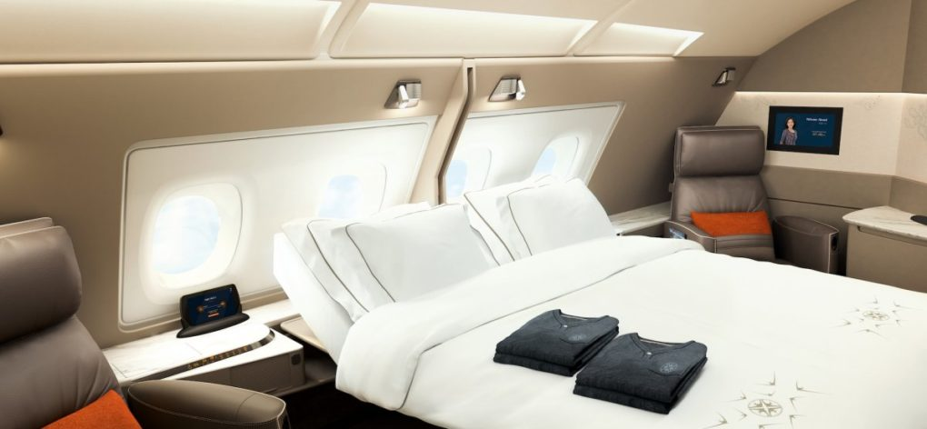 Singapore A380 Double Suite Cabin