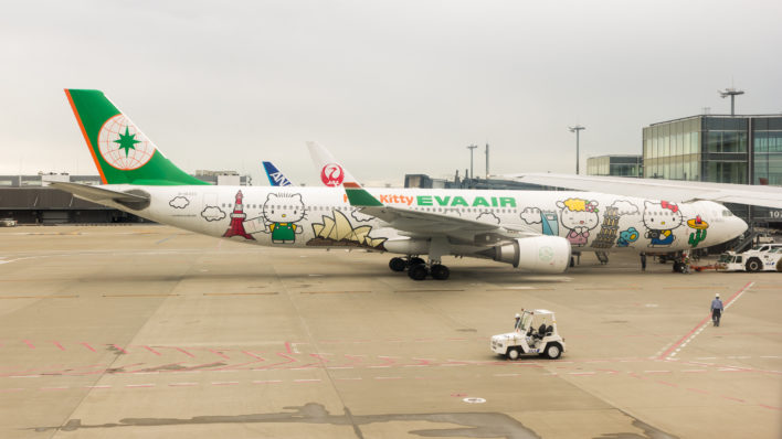 EVA Air 777-300 Hello Kitty