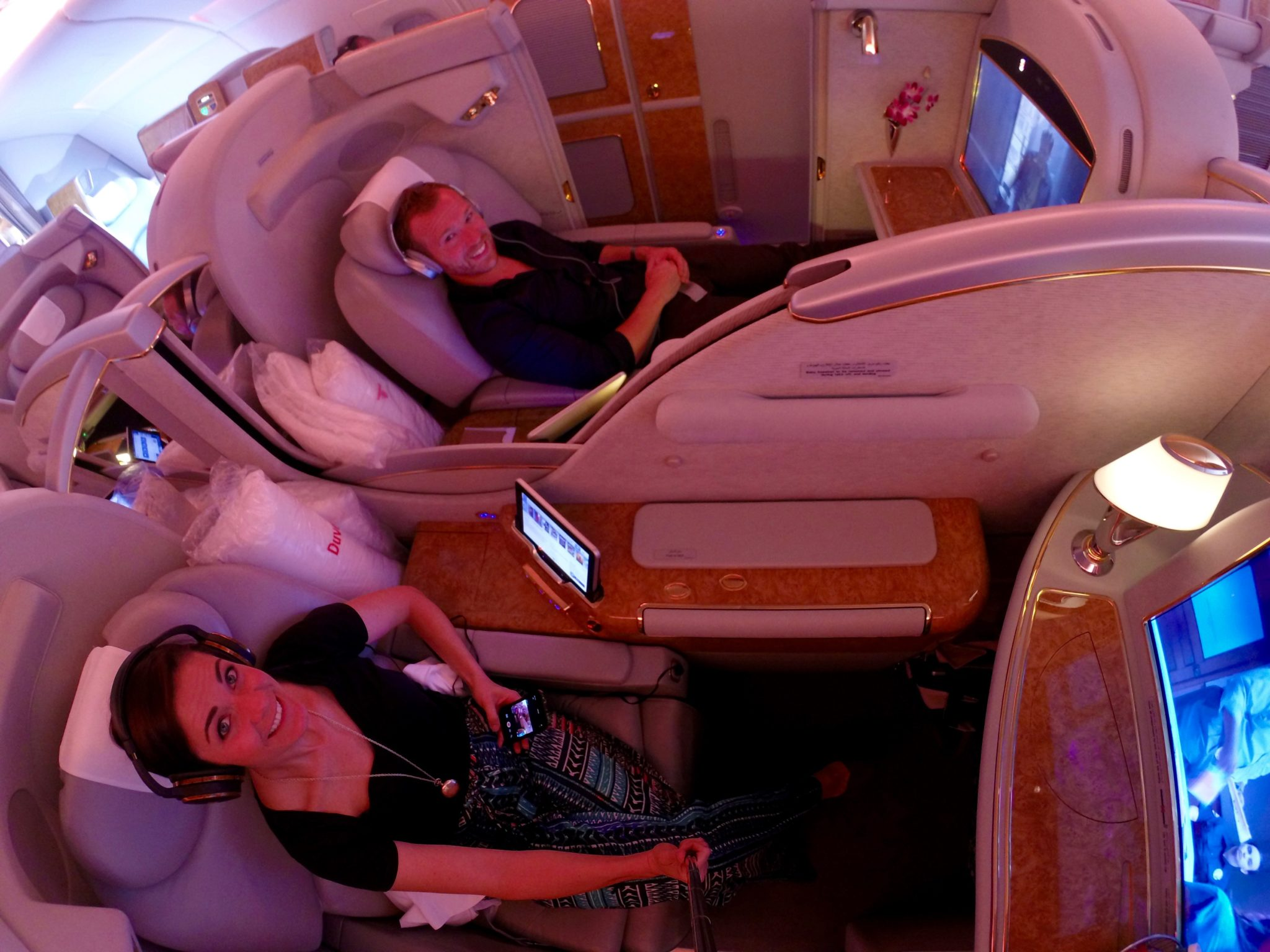 Emirates First Class A380 - Couples Seating