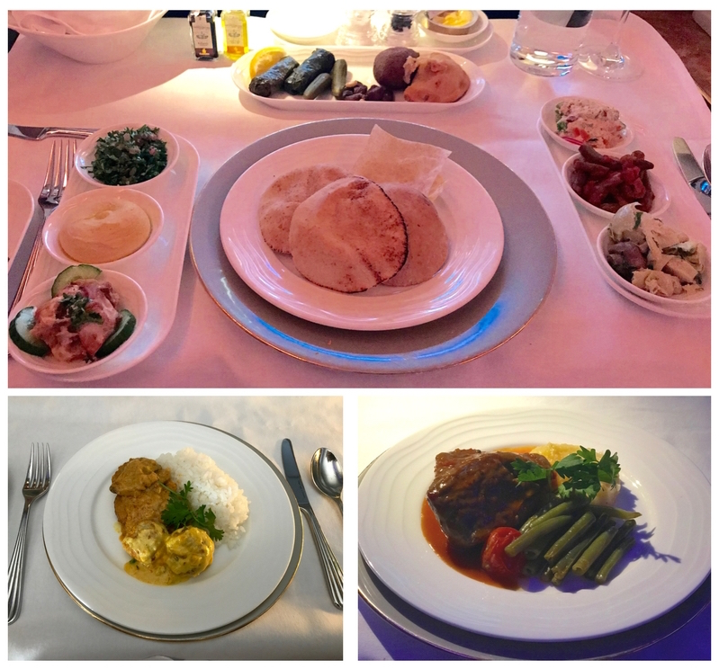 Emirates First Class A380 - Dining