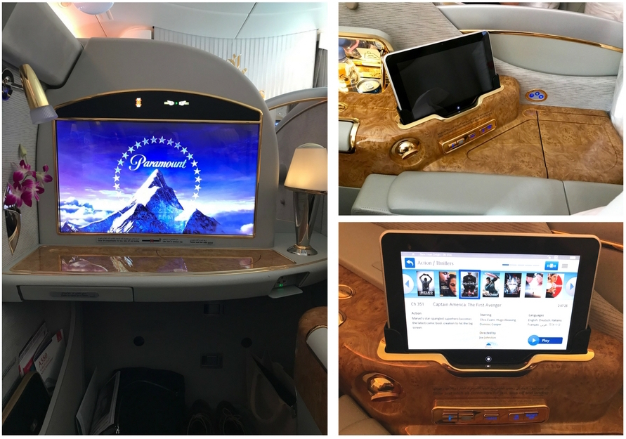 Emirates First Class A380 - Entertainment & Controls