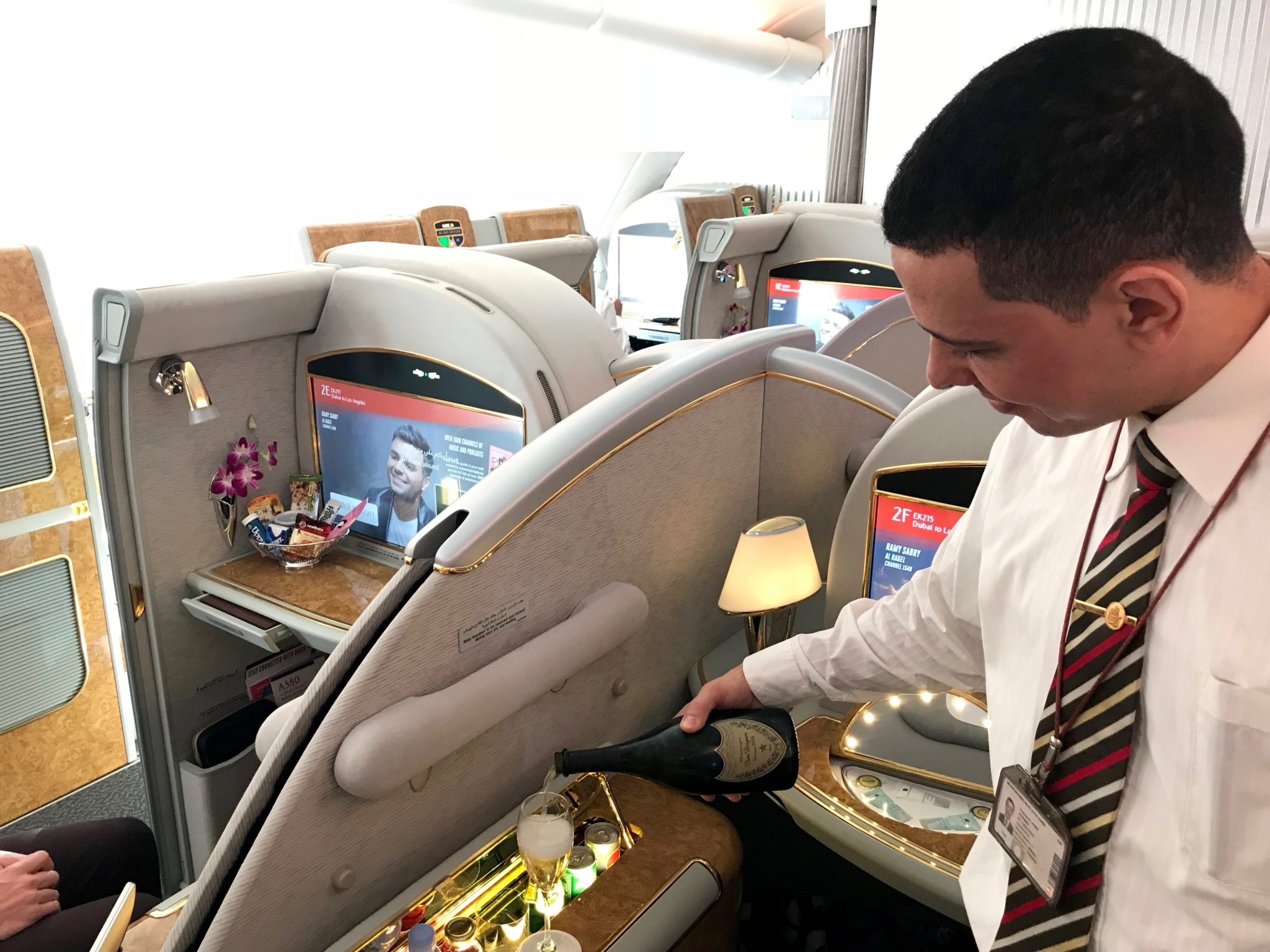 Emirates First Class A380 - Impeccable Service