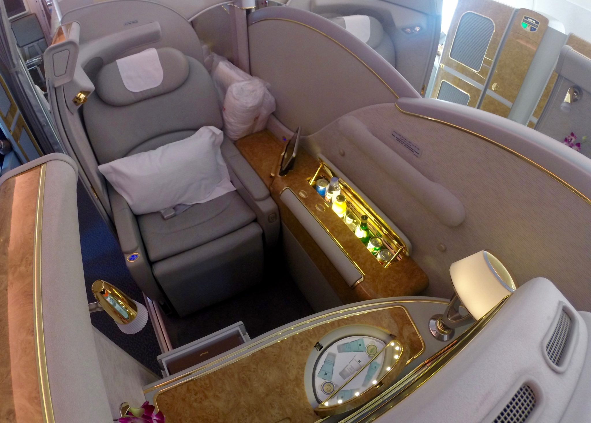 Emirates First Class A380 - Seat 2F