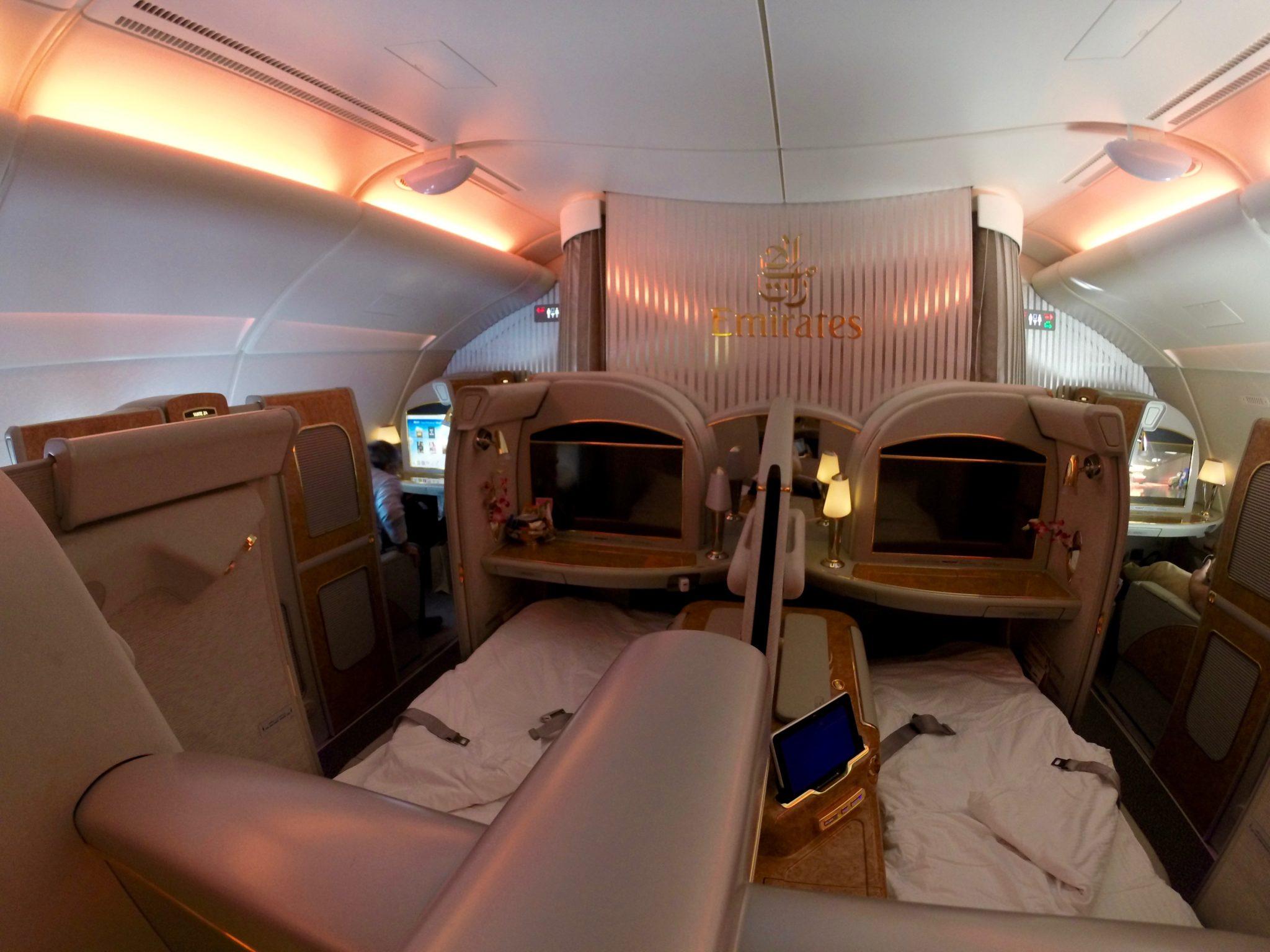 Emirates First Class A380 - Turndown Service