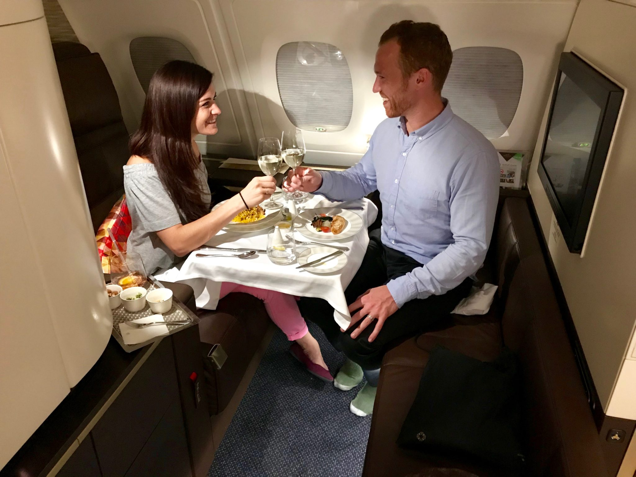 Etihad First Class Apartment - Dining Soup
