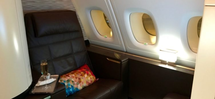 Etihad First Class Apartment - Seat 3K