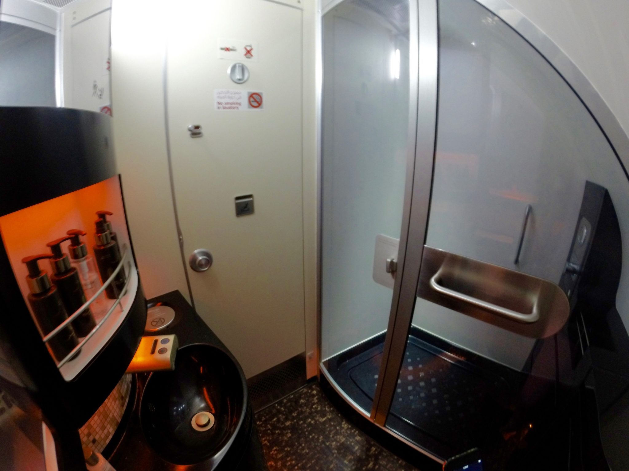 Etihad First Class Apartment Shower Suite