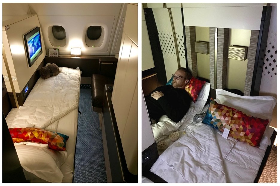 Etihad First Class Apartment - Turndown Service and a Movie