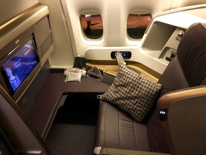 Singapore Airlines Business Class 777 - Seat 11K