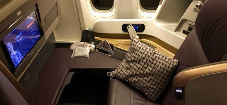 Singapore Airlines Business Class 777 Seat 11K