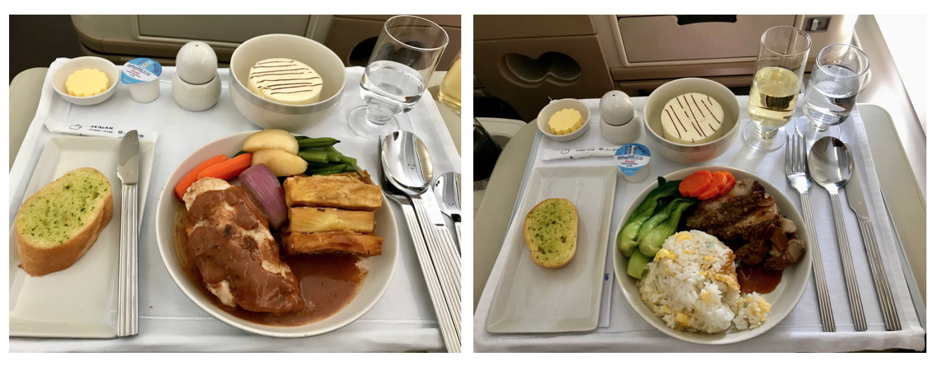 Singapore Airlines Business Class A330 - Dining