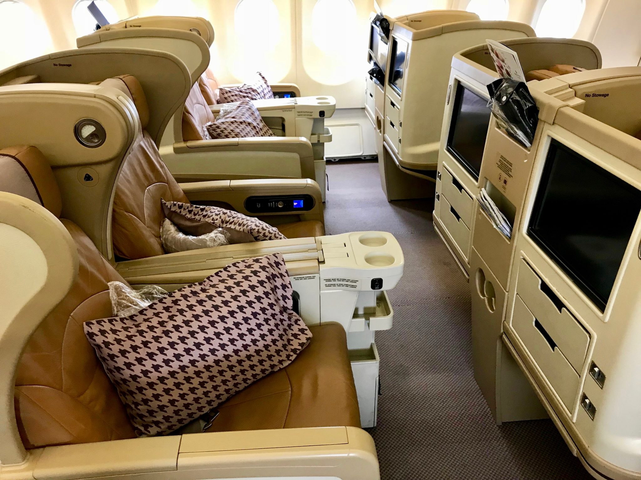 Singapore Airlines Business Class A330 - Interior Seats (2)