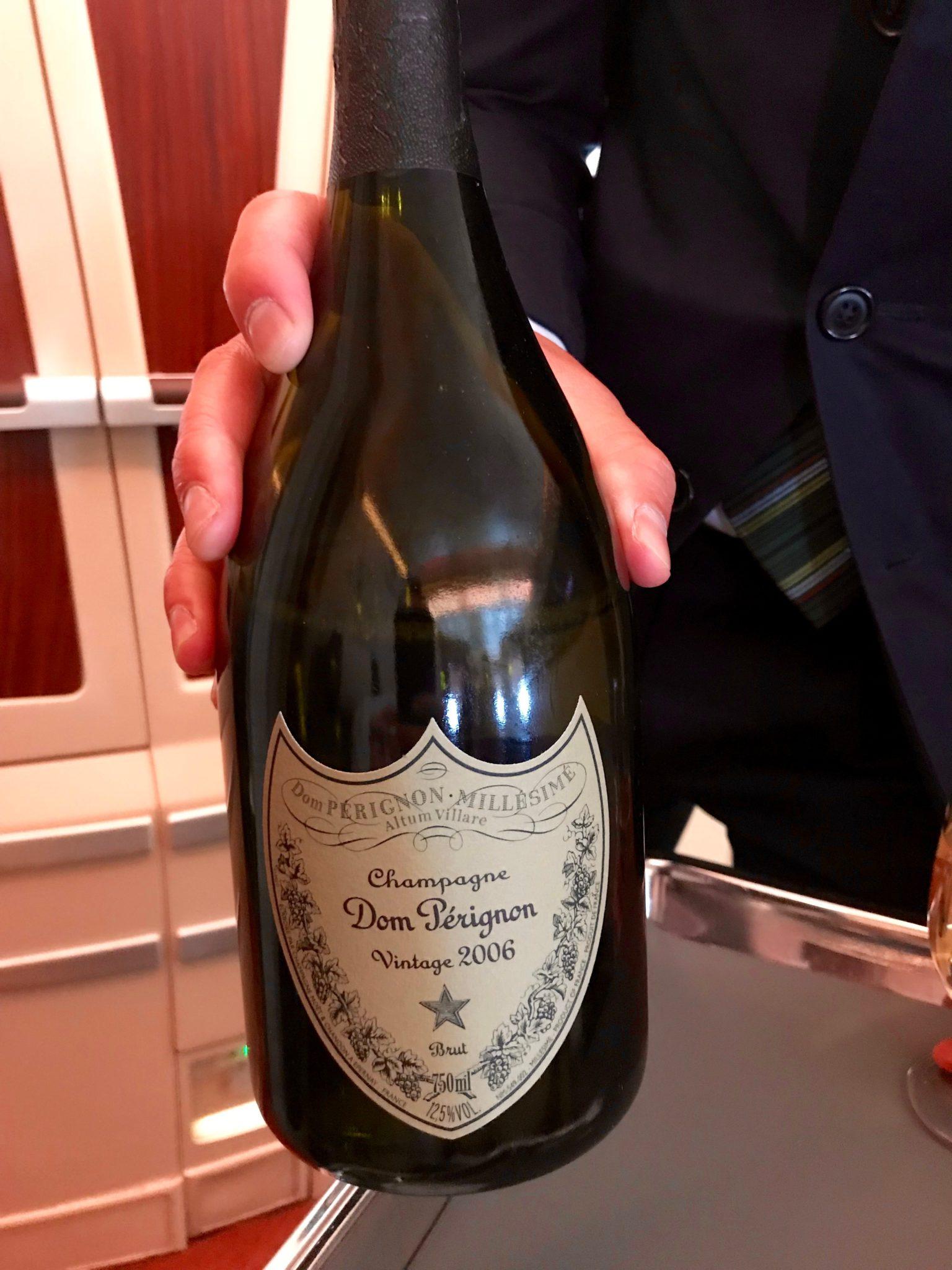 Singapore Suites First Class - Dom Perignon Champagne