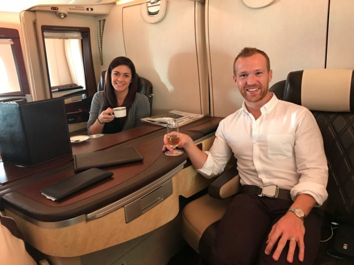 Singapore Suites First Class - Morning Coffee and Champagne