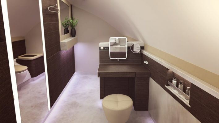 A380 Singapore Suites Bathroom Vanity