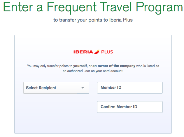 Ultimate Rewards to Iberia Avios