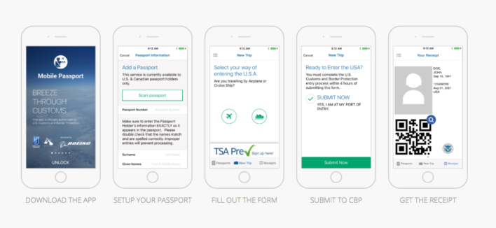 mobile passport steps for use