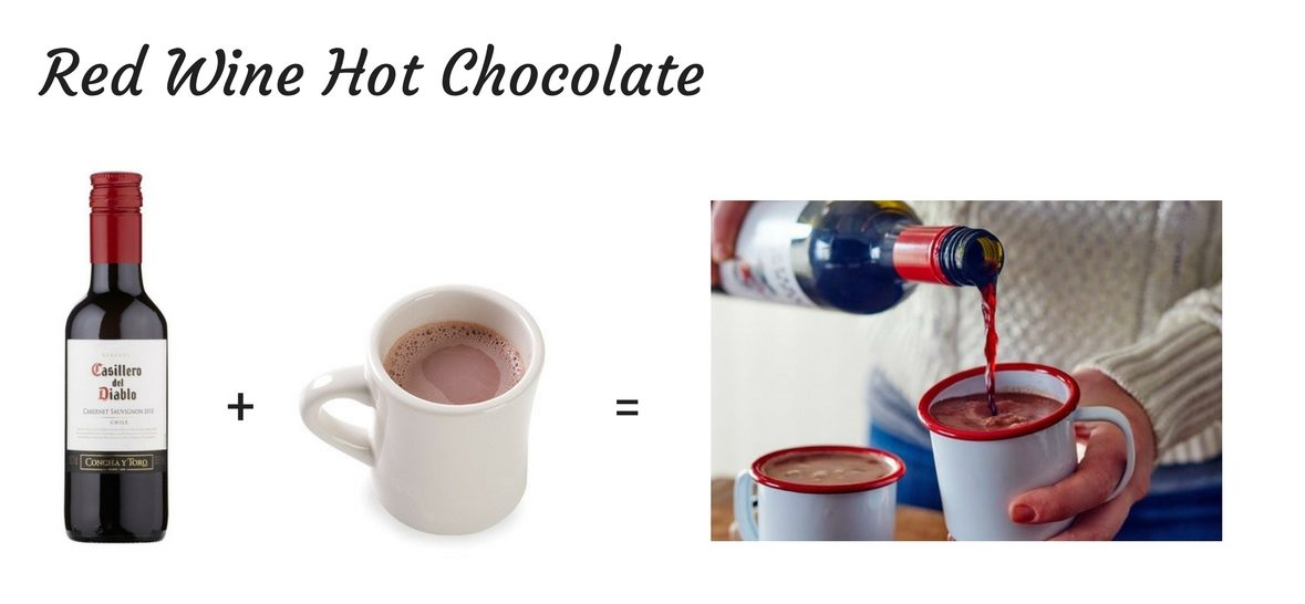 Airplane Cocktails - Red Wine Hot Chocolate