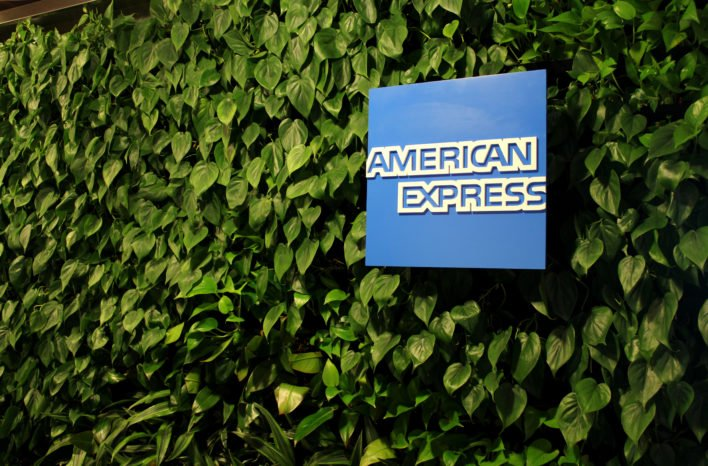 American Express Logo Hedge