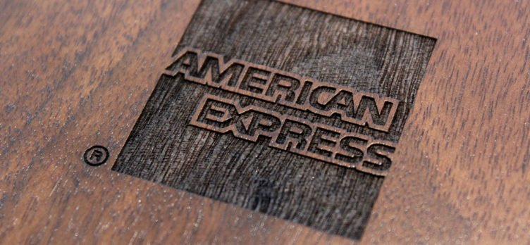 American Express Logo Wood