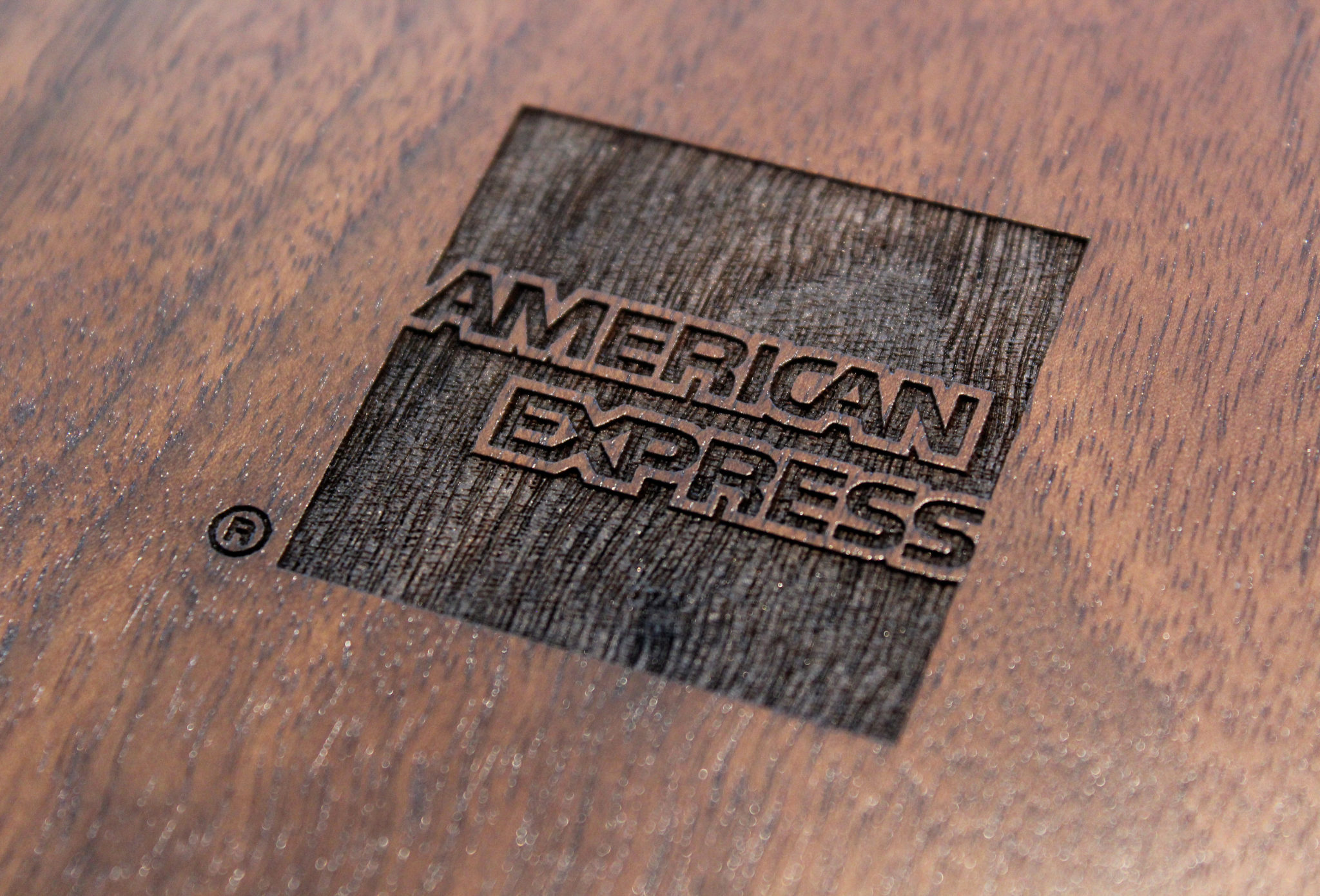 american express logo wood - American Express Business Credit Card