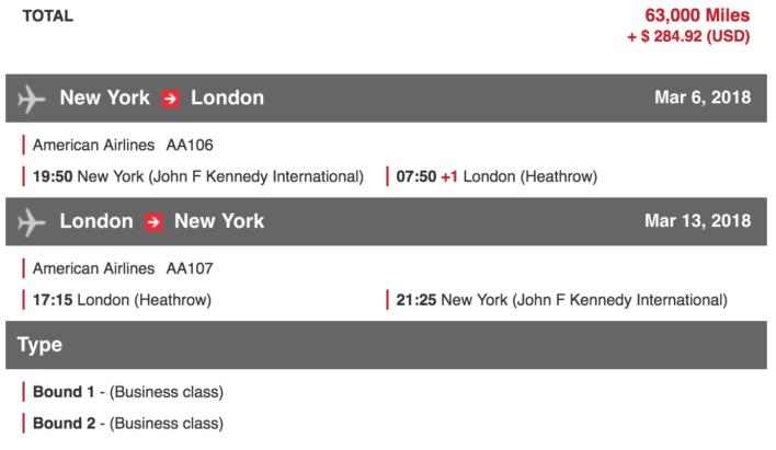 JAL London Redemption