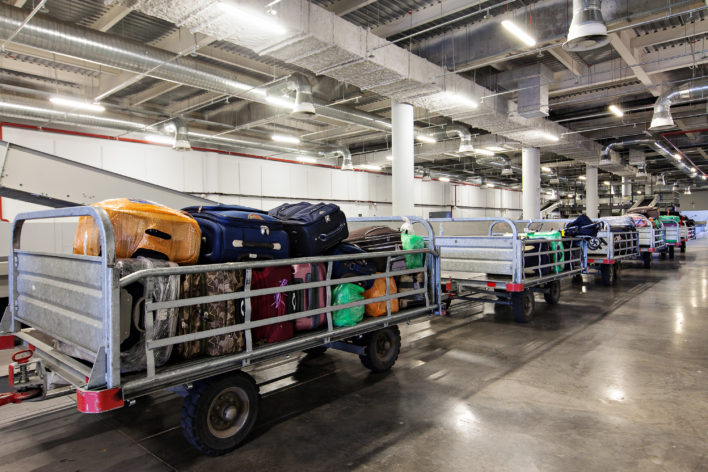 Airport Baggage Train