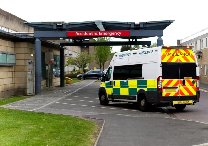 Ambulance Hospital Entrance