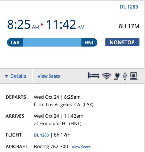 Delta 767 Hawaii