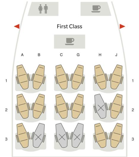 Hawaiian Air Seats