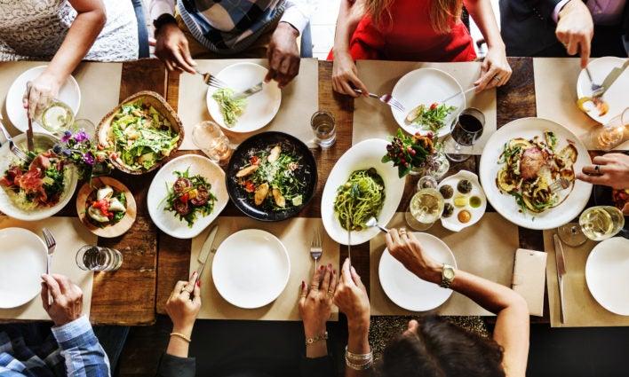 Restaurant Table Above