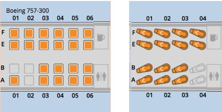 United B757 Seats