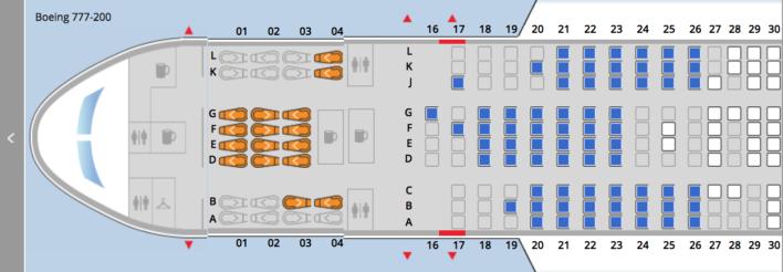 United B777 Seats