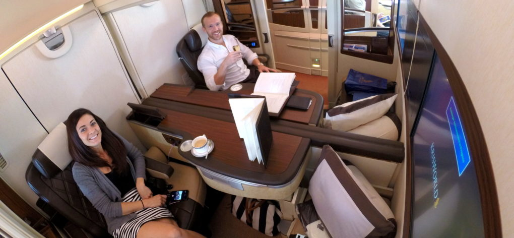 Upgraded Points on Singapore Suites, Flight 1 - Round the World Trip