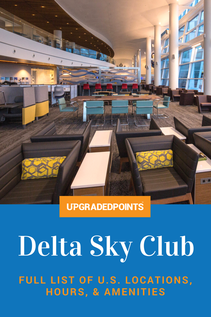 Full List of US Delta Sky Club Lounge Locations, Hours