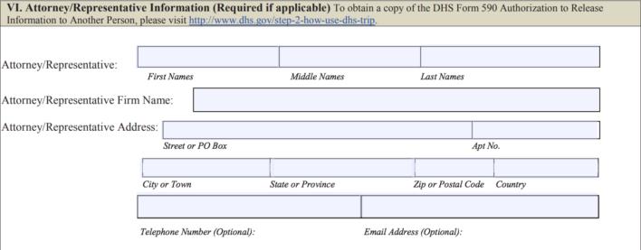 Redress Application Step 6