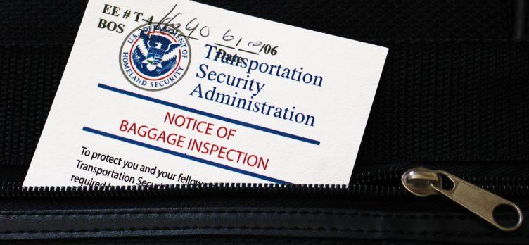 TSA Bag Inspection