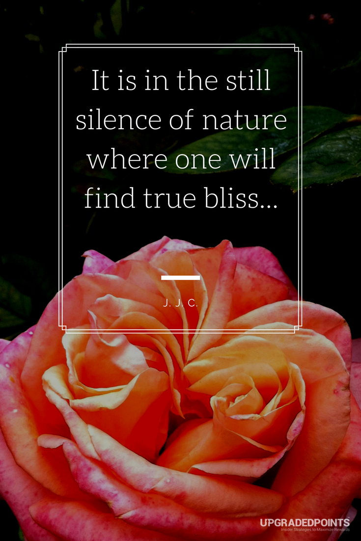 Upgraded Points, Best Travel Quotes - It Is In The Still Silence Of Nature