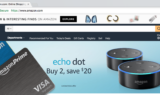 Amazon Rewards Visa Signature Credit Cards by Chase over Amazon.com Homepage