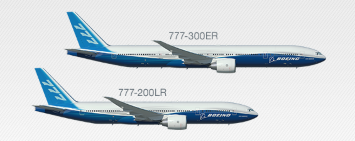 Boeing 777 comparisons