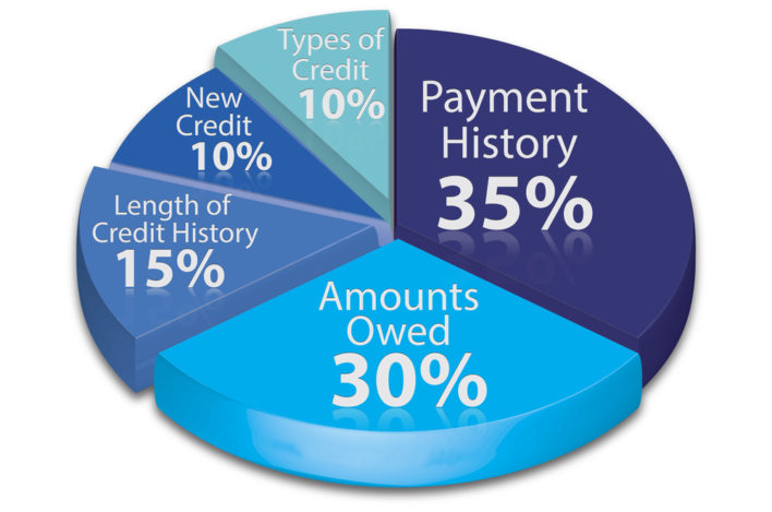 what is a credit score made up of?