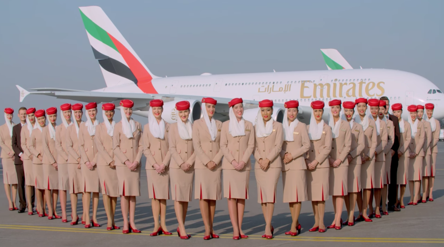 Emirates A380 Aircraft & Flight Attendants